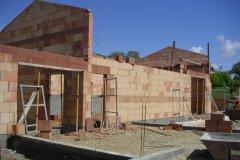 The big chantier, les murs et le toit