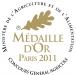 Médaille d'or 2009